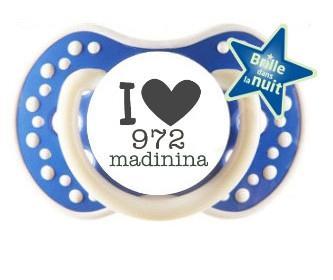 sucette bébé I love madinina
