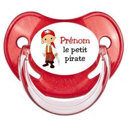 """Sucette personnalisée """"Prénom Petit Pirate"""""""
