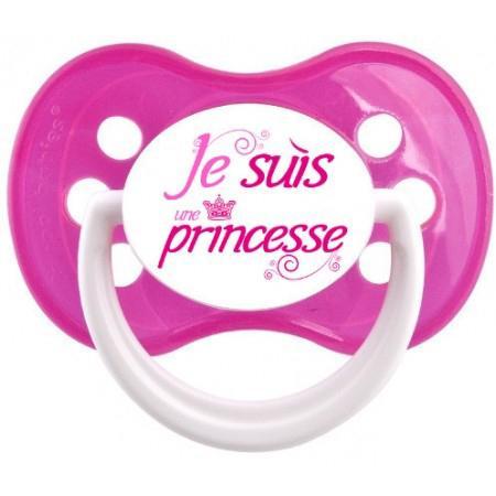 Sucette personnalisée Je suis une princesse
