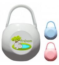 Boîte à Sucette personnalisée Hippopotame Prénom