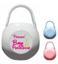 Boîte à Sucette personnalisée Baby Parisienne Prénom