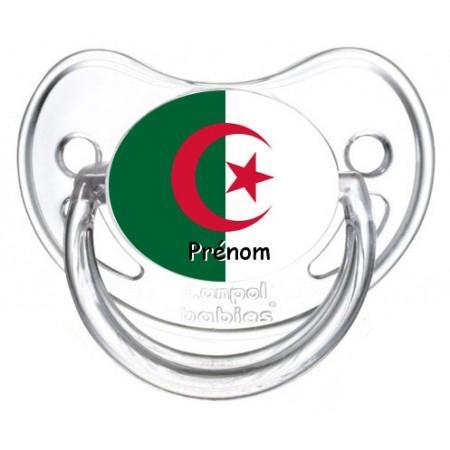 Sucette personnalisée drapeau Algérie et prénom