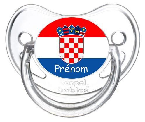 Sucette personnalisée drapeau Croatie et prénom