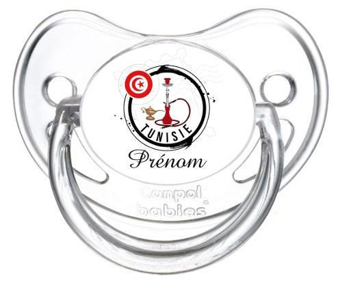 Sucette personnalisée Tunisie et prénom