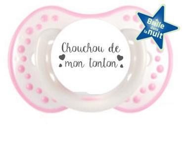 Sucette personnalisée Chouchou de mon tonton