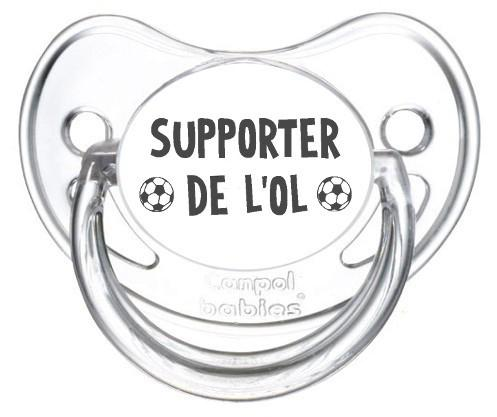 Sucette foot Supporter OL Lyon