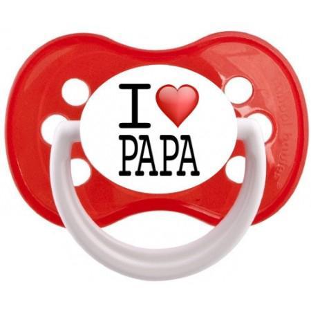 """Sucette bébé """"I love Papa"""""""