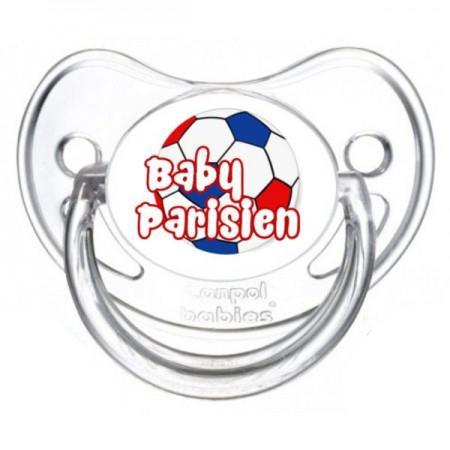 Sucette personnalisée baby parisien ballon