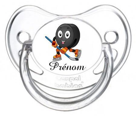 Sucette personnalisée Hockey et Prénom
