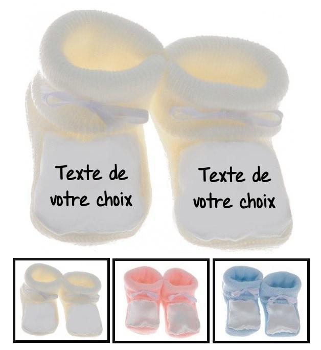 Chaussons bébé personnalisé message
