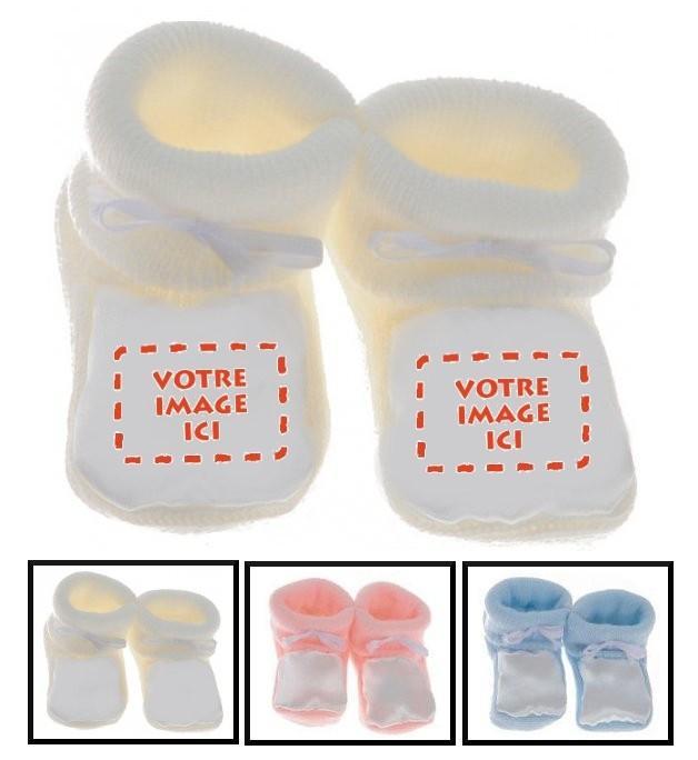Chaussons bébé personnalisé image-photo