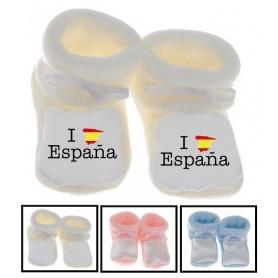 Chaussons bébé I love Espagne