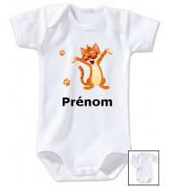 Body personnalisé chat prénom