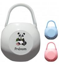 Boîte à Sucette personnalisée Panda Prénom