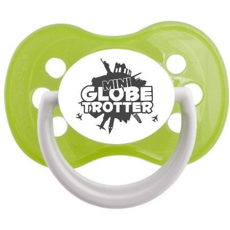 """Sucette bébé humour """"mini globe trotter"""""""