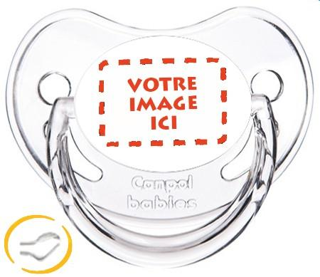 Sucette personnalisée photo Chupa transparent