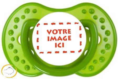 Sucette personnalisée photo Spark verte