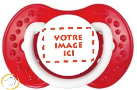 Sucette personnalisée photo Spark rouge