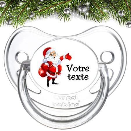 """Sucette personnalisée """"Père Noël et sac"""""""