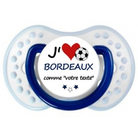 Sucette foot personnalisée J'aime Bordeaux