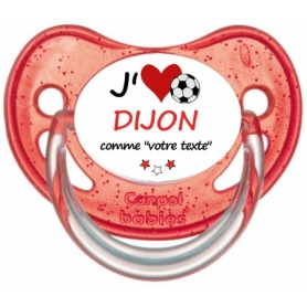 Sucette foot personnalisée J'aime Dijon