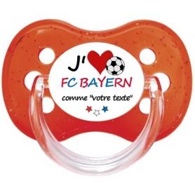 Sucette foot personnalisée J'aime FC Bayern