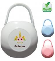 Boîte à Sucette personnalisée Unicorne Prénom