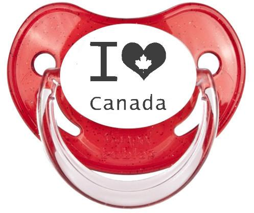 """Sucette bébé """"I love Canada"""""""