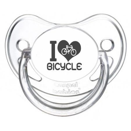 Sucette bébé I love bicycle