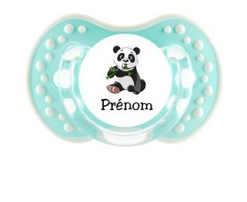Sucette personnalisée panda et prénom