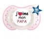 """Sucette personnalisée """"J'aime mon papa"""""""