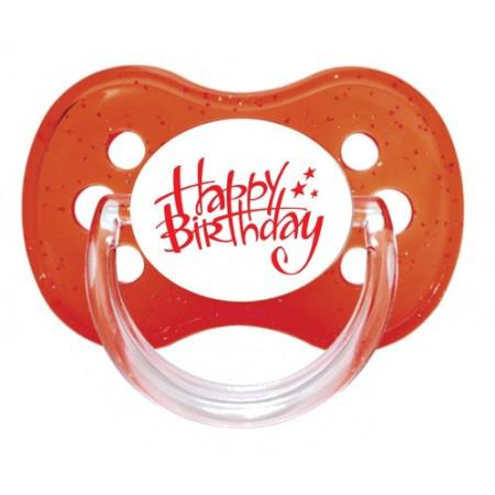 Sucette personnalisée Happy birthday
