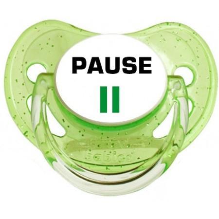 Sucette personnalisée Pause