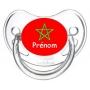 Sucette personnalisée drapeau Maroc et prénom