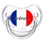 Sucette personnalisée drapeau France et prénom