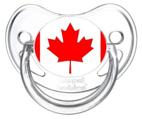 Sucette personnalisée drapeau Canada