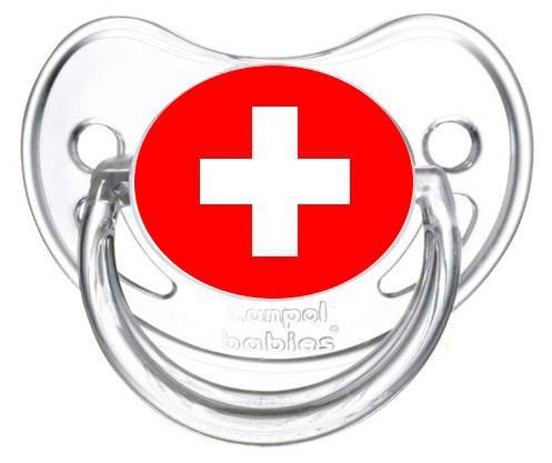 Sucette personnalisée drapeau suisse