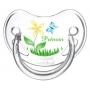 Sucette personnalisée fleur et papillon