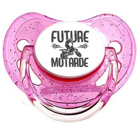 Sucette bébé future motarde