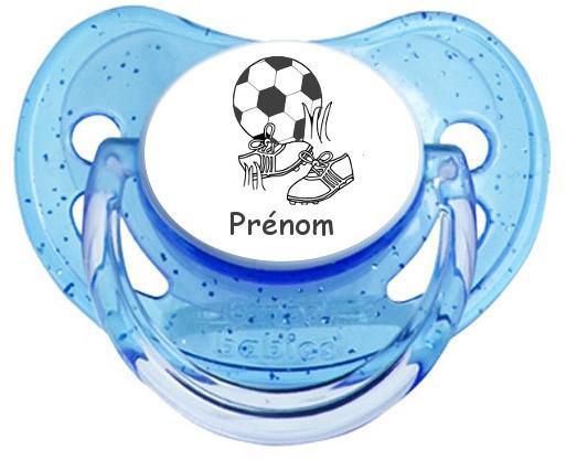 Sucette personnalisée football2 prénom