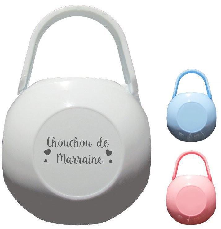 Boite à Sucette personnalisée Chouchou de marraine