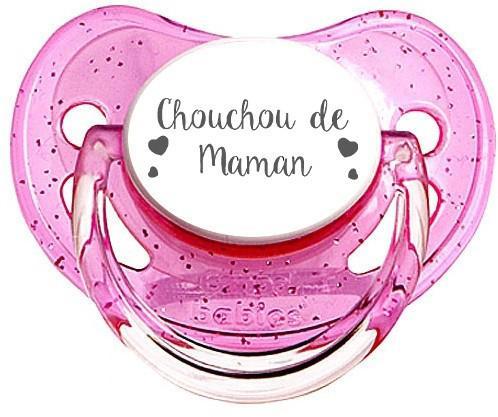 Sucette personnalisée Chouchou de maman