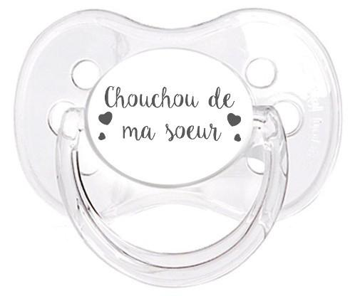Sucette personnalisée Chouchou de ma soeur