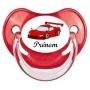 Sucette personnalisée voiture de course rouge