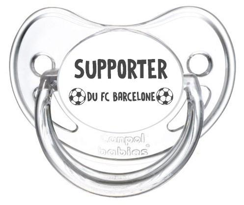 Sucette foot Supporter FC Barcelone