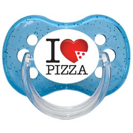 """Sucette bébé """"I love Pizza"""""""