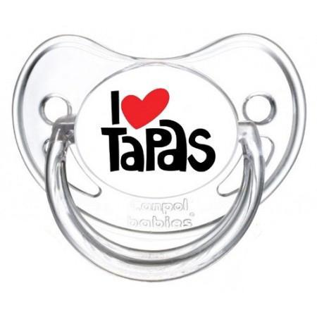 """Sucette bébé """"I love tapas"""""""