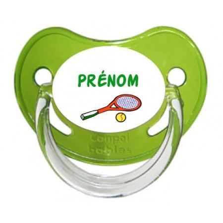 Sucette personnalisée Tennis et Prénom