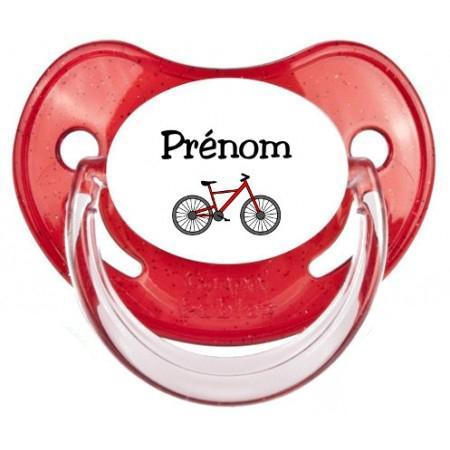 Sucette personnalisée Vélo et Prénom