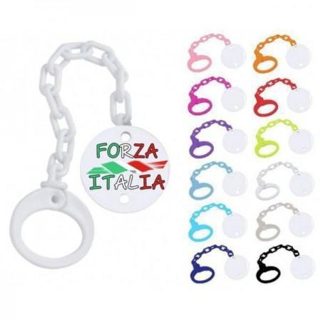 Attache Sucette personnalisée Forza Italia